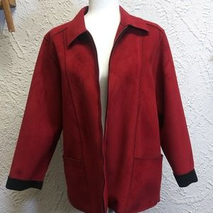 16W Alfred Dunner Jacket Faux Suede